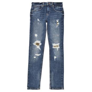 衣服 男孩 紧身牛仔裤 Guess PERNOLA 蓝色