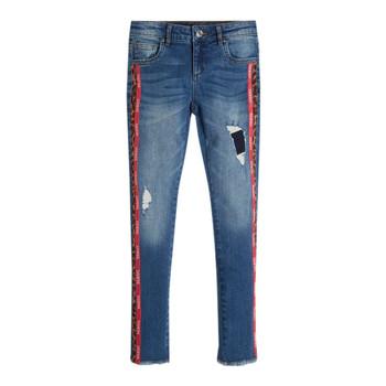 衣服 女孩 紧身牛仔裤 Guess TRAMIN 蓝色