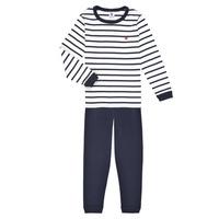 衣服 男孩 睡衣/睡裙 Petit Bateau 小帆船 TECHI 白色 / 蓝色
