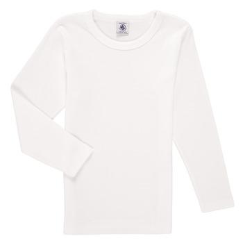 衣服 男孩 长袖T恤 Petit Bateau 小帆船 KELOMA 白色