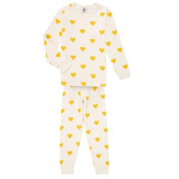 衣服 女孩 睡衣/睡裙 Petit Bateau 小帆船 LERINU 白色 / 黄色