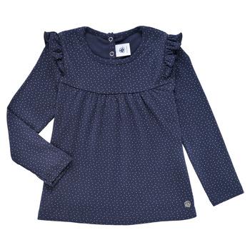 衣服 女孩 长袖T恤 Petit Bateau 小帆船 IWAKA 海蓝色