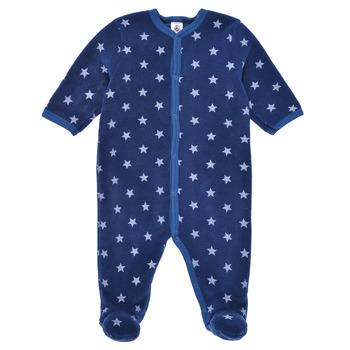 衣服 男孩 睡衣/睡裙 Petit Bateau 小帆船 BENIR 蓝色 / 白色