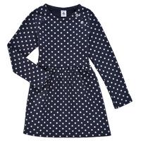 衣服 女孩 短裙 Petit Bateau 小帆船 KARREMA 蓝色 / 白色