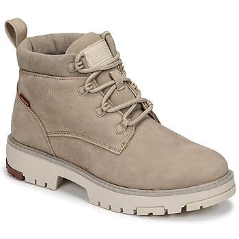 鞋子 女士 短筒靴 Levi's 李维斯 SOLVI ANKLE 米色