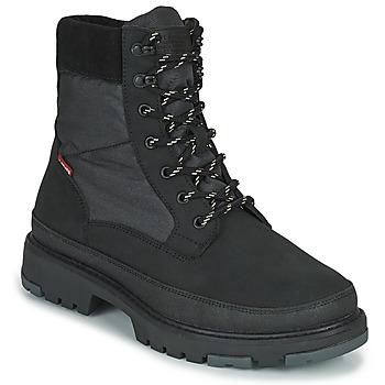 鞋子 男士 短筒靴 Levi's 李维斯 TORSTEN QUILTED 黑色