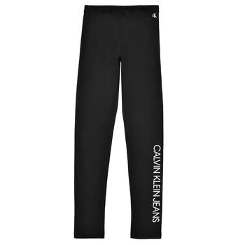 衣服 女孩 紧身裤 Calvin Klein Jeans MERCA 黑色