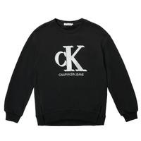 衣服 女孩 卫衣 Calvin Klein Jeans POLLI 黑色