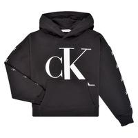 衣服 女孩 卫衣 Calvin Klein Jeans SALOMA 黑色