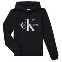 衣服 儿童 卫衣 Calvin Klein Jeans TRINIDA 黑色