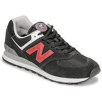 鞋子 男士 球鞋基本款 New Balance新百伦 574 黑色 / 红色