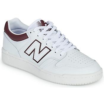 鞋子 男士 球鞋基本款 New Balance新百伦 480 白色 / 波尔多红