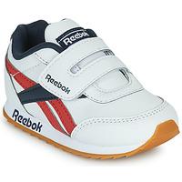 鞋子 儿童 球鞋基本款 Reebok Classic REEBOK ROYAL CLJOG 2  KC 白色 / 海蓝色 / 红色
