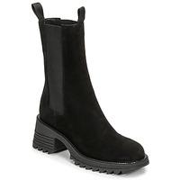 鞋子 女士 短靴 MIMMU CAMOSCIO 黑色