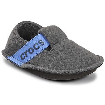 鞋子 儿童 拖鞋 crocs 卡骆驰 CLASSIC SLIPPER K 灰色 / 蓝色