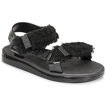 鞋子 女士 凉鞋 Melissa 梅丽莎 MELISSA PAPETTE FLUFFY RIDER AD 黑色