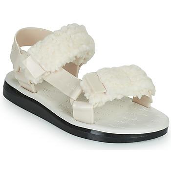 鞋子 女士 凉鞋 Melissa 梅丽莎 MELISSA PAPETTE FLUFFY RIDER AD 米色 / 黑色