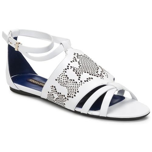 鞋子 女士 凉鞋 Roberto Cavalli 罗伯特·卡沃利 TPS918 白色