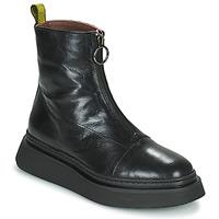 鞋子 女士 短筒靴 Mjus BASE ZIP 黑色