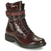 鞋子 女士 短筒靴 Mjus CAFE PATENT 波尔多红