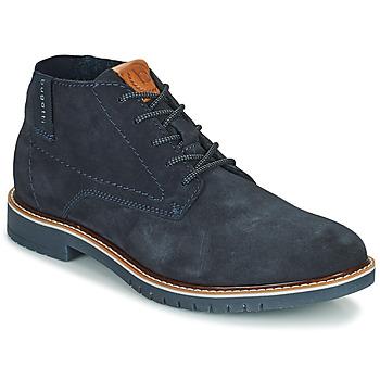 鞋子 男士 短筒靴 Bugatti PLUTONO 海蓝色