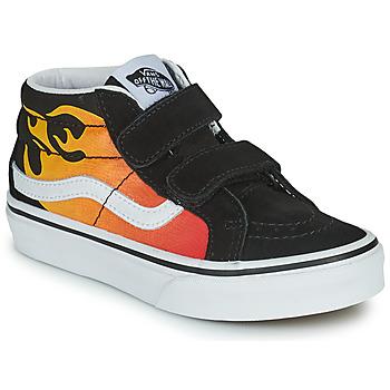 鞋子 男孩 高帮鞋 Vans 范斯 SK8-MID 黑色 / 红色