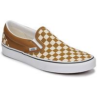 鞋子 男士 平底鞋 Vans 范斯 CLASSIC SLIP ON 棕色 / 米色