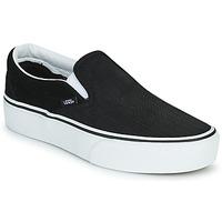 鞋子 女士 平底鞋 Vans 范斯 CLASSIC SLIP-ON PLATFORM 黑色 / 白色