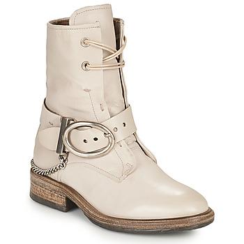 鞋子 女士 短筒靴 Airstep / A.S.98 FLOWER BUCKLE 米色