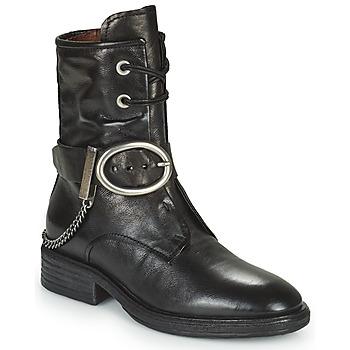鞋子 女士 短筒靴 Airstep / A.S.98 FLOWER BUCKLE 黑色