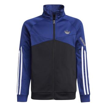 衣服 儿童 运动款外套 Adidas Originals 阿迪达斯三叶草 SENTIRA 黑色 / 海蓝色