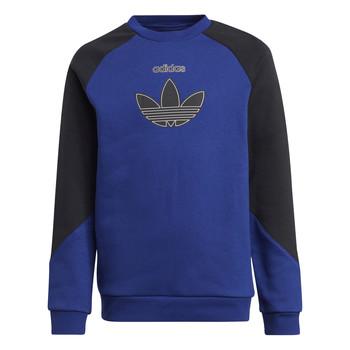 衣服 儿童 卫衣 Adidas Originals 阿迪达斯三叶草 ROUGED 海蓝色 / 黑色