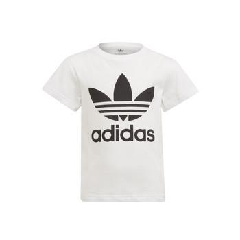 衣服 儿童 短袖体恤 Adidas Originals 阿迪达斯三叶草 FLORE 白色