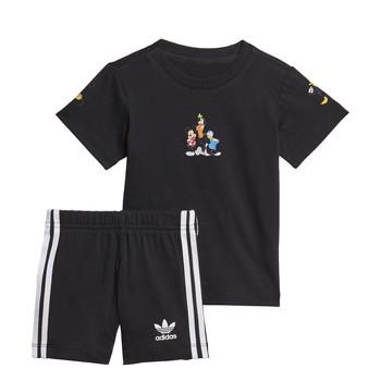 衣服 男孩 女士套装 Adidas Originals 阿迪达斯三叶草 COTES 黑色