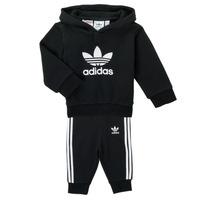 衣服 儿童 女士套装 Adidas Originals 阿迪达斯三叶草 TROPLA 黑色