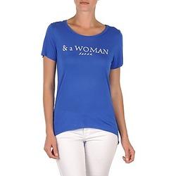衣服 女士 短袖体恤 School Rag TEMMY WOMAN 蓝色