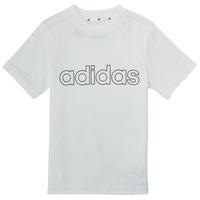 衣服 男孩 短袖体恤 adidas Performance 阿迪达斯运动训练 ALBA 白色