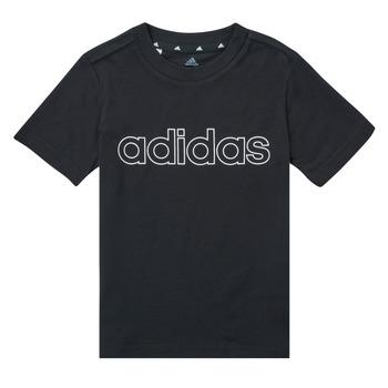衣服 男孩 短袖体恤 adidas Performance 阿迪达斯运动训练 SAMINA 黑色
