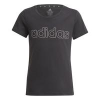 衣服 女孩 短袖体恤 adidas Performance 阿迪达斯运动训练 PLAKAT 黑色