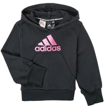 衣服 女孩 卫衣 adidas Performance 阿迪达斯运动训练 KINOM 黑色