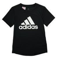 衣服 男孩 短袖体恤 adidas Performance 阿迪达斯运动训练 NADGED 黑色