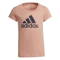 衣服 女孩 短袖体恤 adidas Performance 阿迪达斯运动训练 ALBERIC 玫瑰色