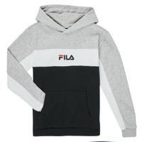 衣服 男孩 卫衣 Fila CAMILLA 黑色 / 灰色