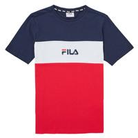 衣服 女孩 短袖体恤 Fila TEKANI 红色 / 海蓝色