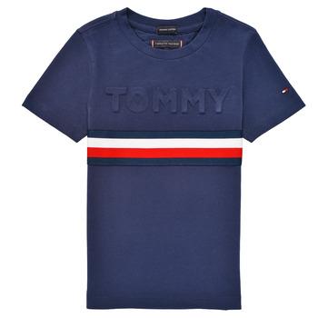 衣服 男孩 短袖体恤 Tommy Hilfiger ELEONORE 海蓝色
