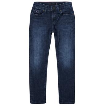 衣服 男孩 紧身牛仔裤 Tommy Hilfiger ARMAND 蓝色