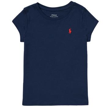 衣服 女孩 短袖体恤 Polo Ralph Lauren DRETU 海蓝色
