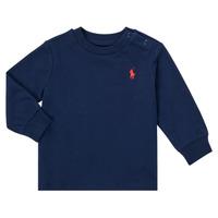 衣服 男孩 长袖T恤 Polo Ralph Lauren FADILA 海蓝色