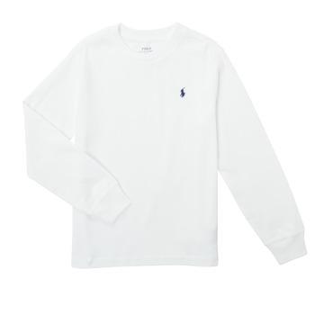 衣服 男孩 长袖T恤 Polo Ralph Lauren KEMILO 白色
