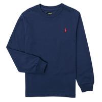 衣服 男孩 长袖T恤 Polo Ralph Lauren KEMILO 海蓝色